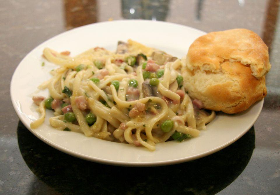 Ham and Spaghetti Casserole