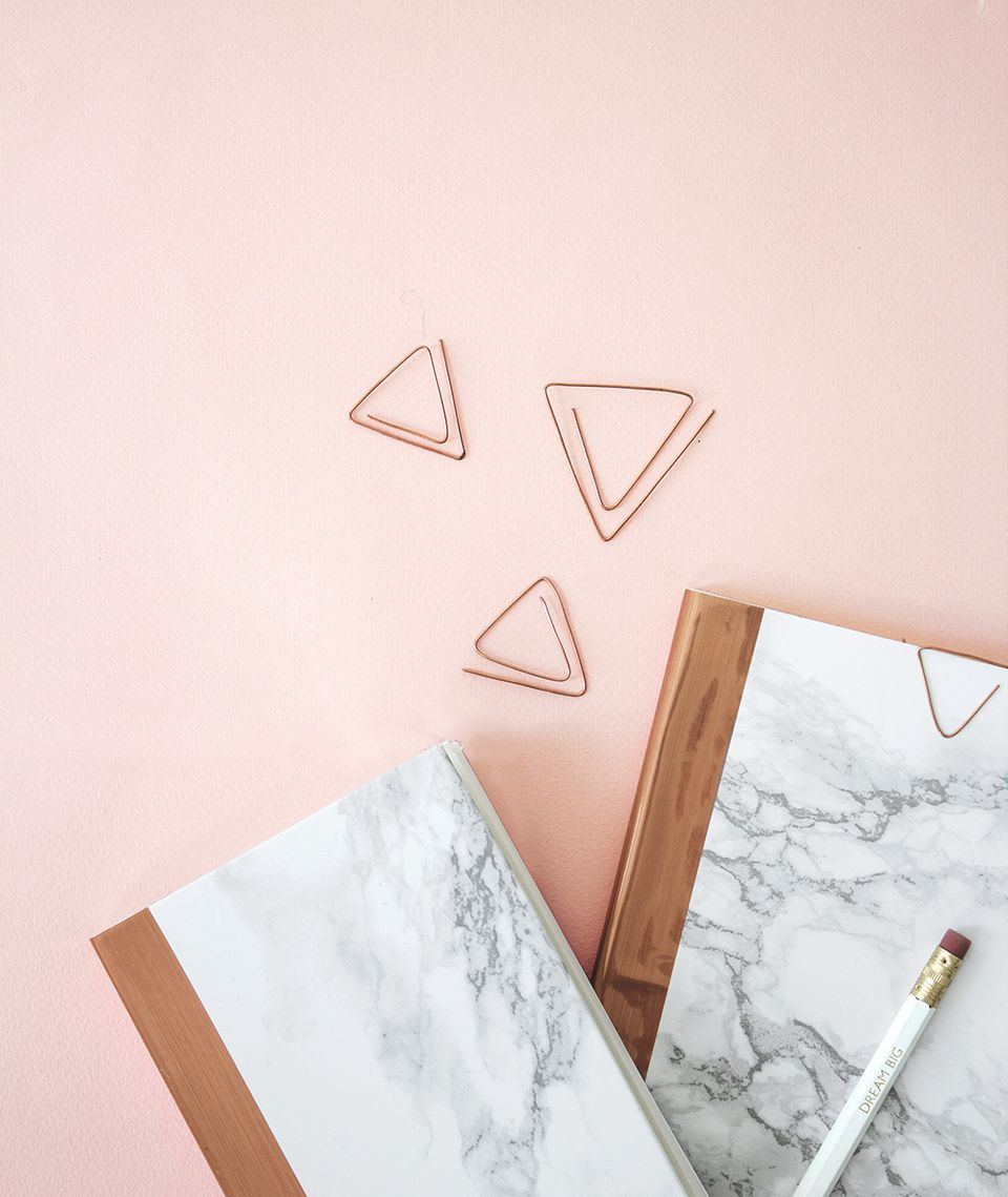 DIY Marble And Copper Notebook