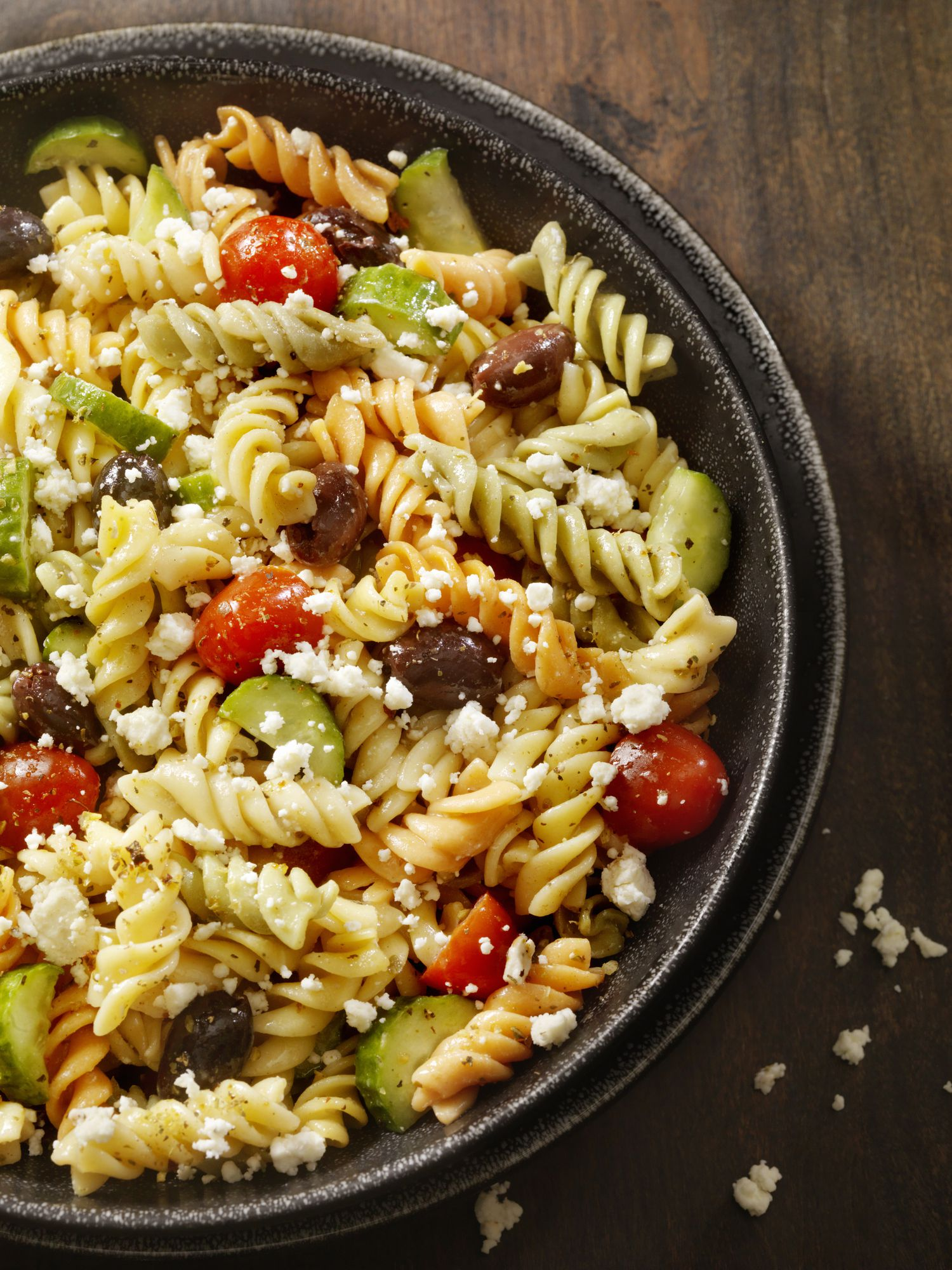 vegetarian olive and feta pasta recipe. Black Bedroom Furniture Sets. Home Design Ideas