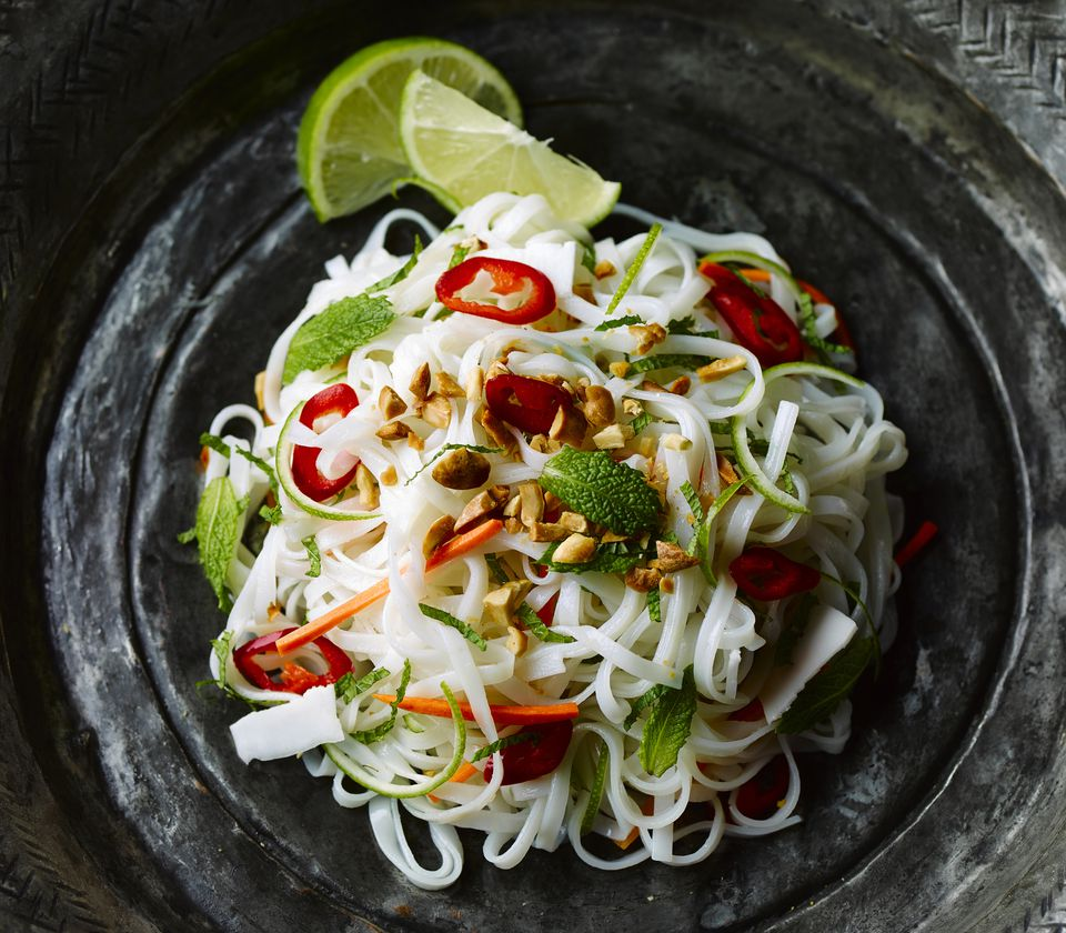 Thai vegetarian rice noodles