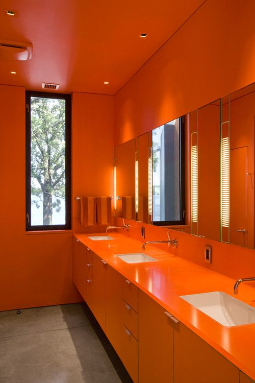 Beautiful Orange Bathrooms