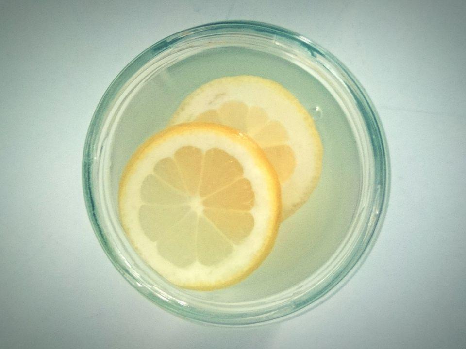 Directly Above Shot Of Lemon Juice