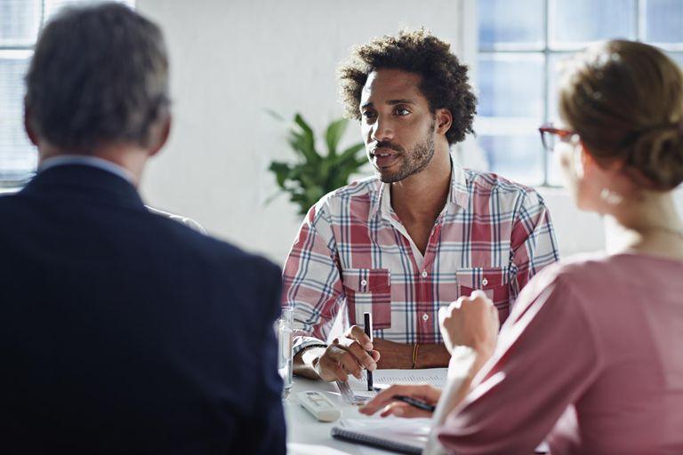 Strategic meeting in office