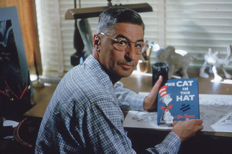 Dr Seuss Holds 'The Cat In The Hat'