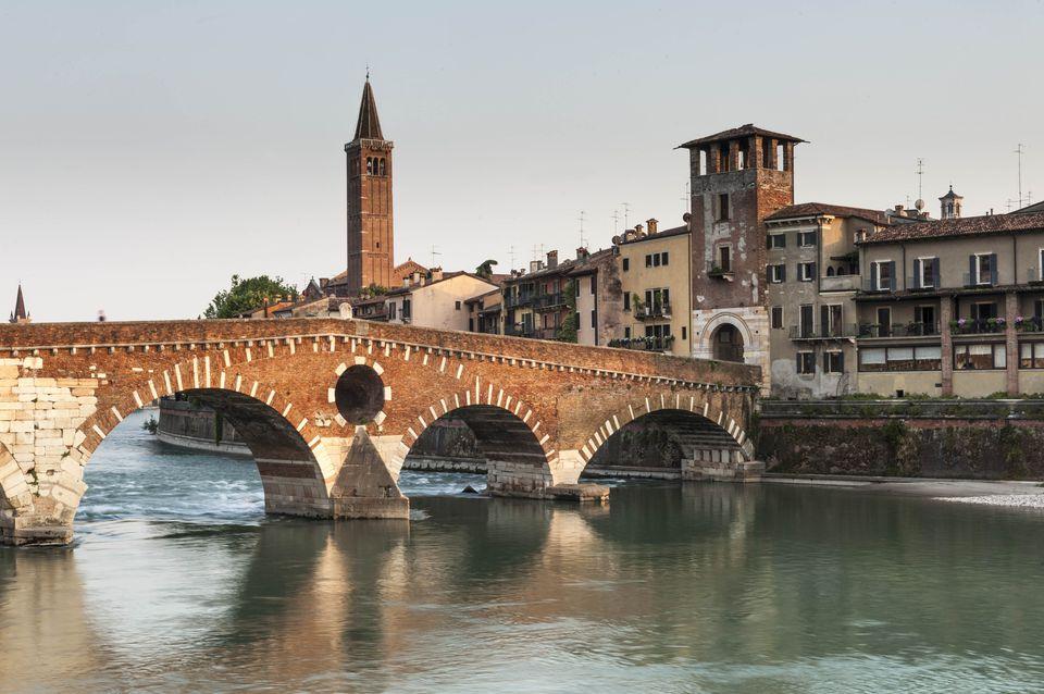 The Ponte Pietre in Verona.