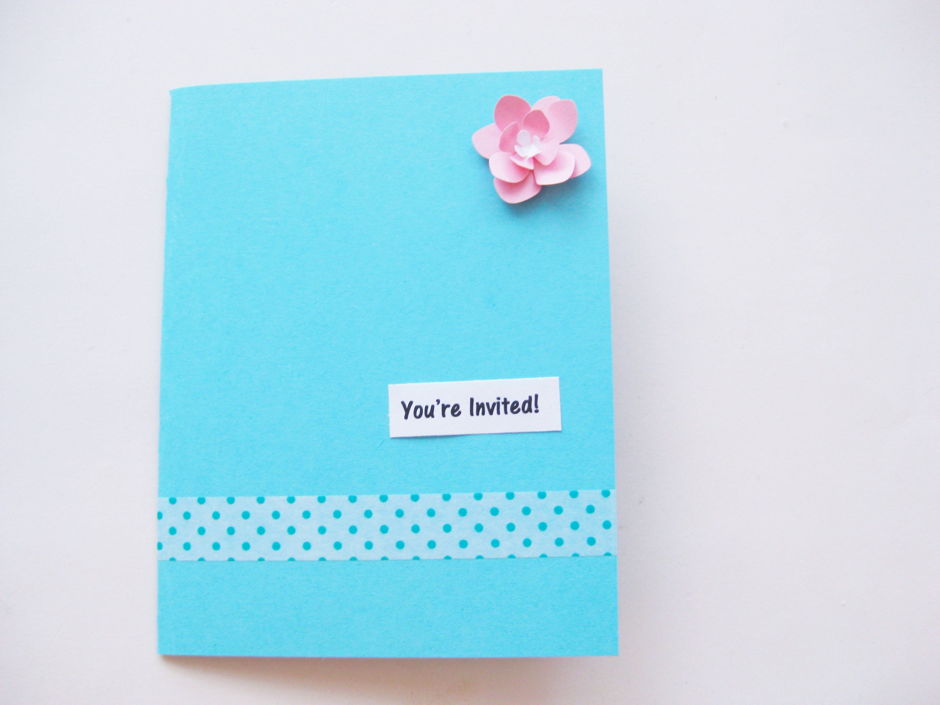 beautiful handmade party invitations in 5 steps