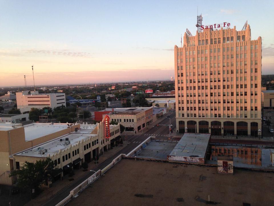 Downtown Amarillo at Sunrise