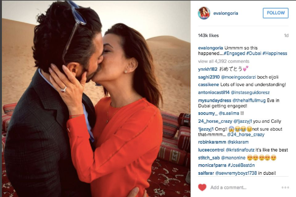 Eva Longoria Engaged To Jose Antonio Baston