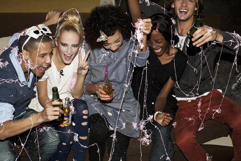 Friends celebrating New Years