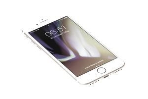 Brand new gold Apple iPhone 8 front side isolate on white background with clipping path.