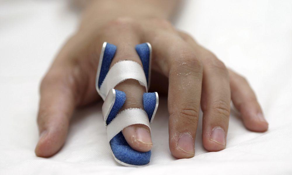 Finger in splint