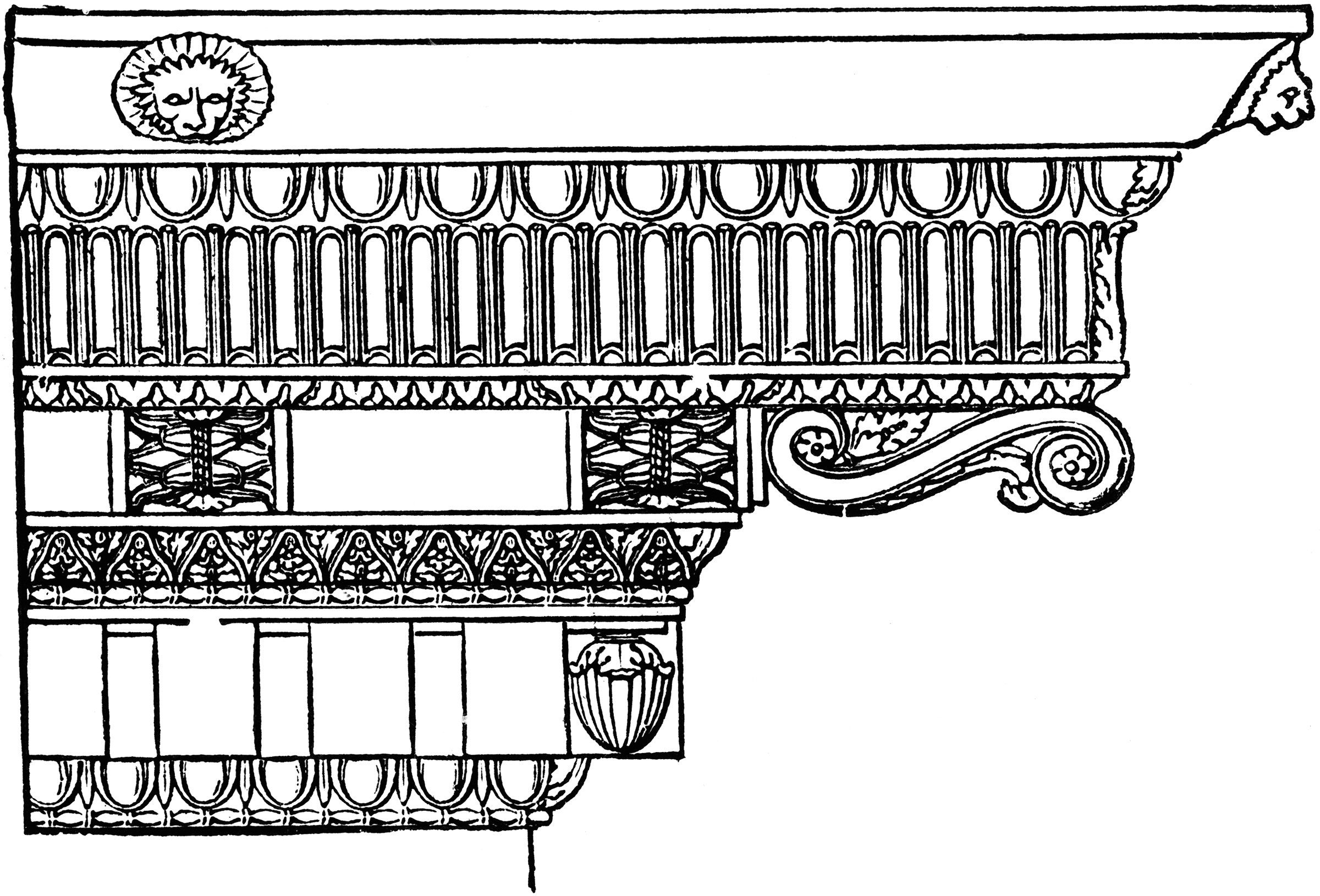 What is an entablature definition with examples for Anarchitecture definition