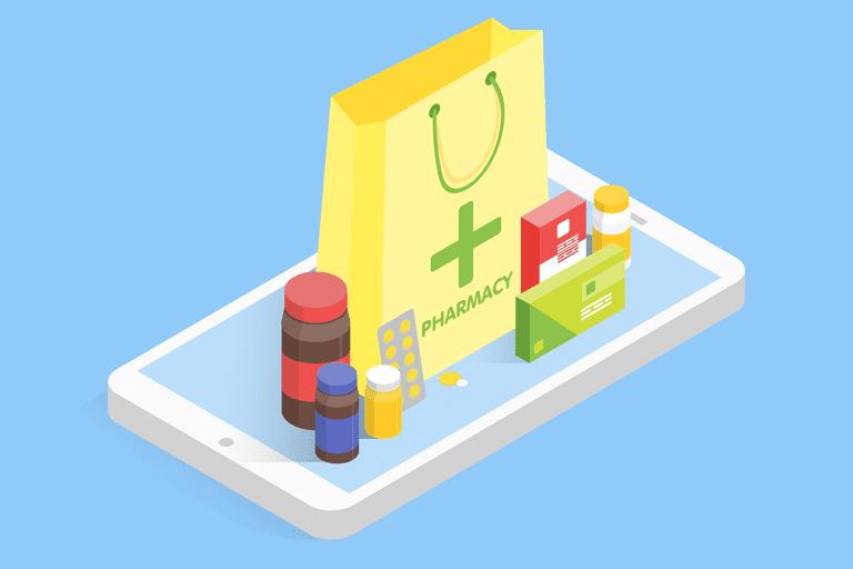 Prescription drugs on smartphone