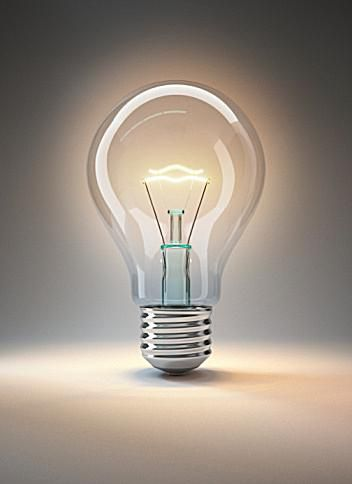 lightbulb with hot filament
