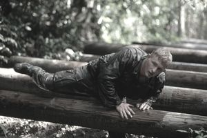 Marine on Obstacle Course