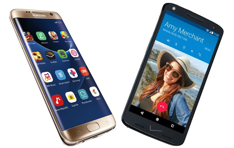 Samsung Galaxy S7 y Motorola DROID Turbo 2