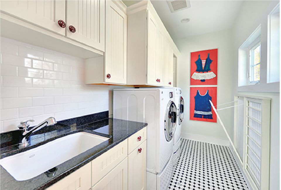 Modern Galley Laundry Room