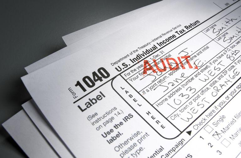 Audit Stamp on Tax Form