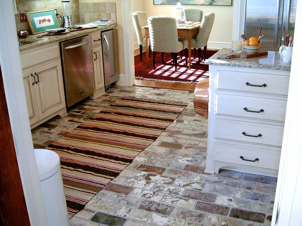 Inexpensive Brick Kitchen Flooring Images