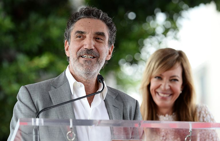 Producer Chuck Lorre (L) and actress Allison Janney attend Janney's Star ceremony on The Hollywood Walk of Fame on October 17, 2016 in Hollywood, California.