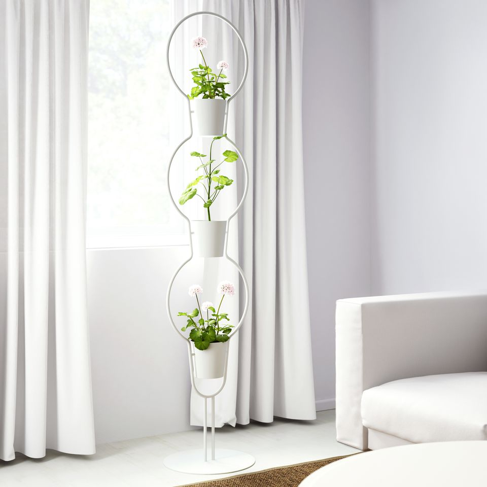 Plant stand with three pots