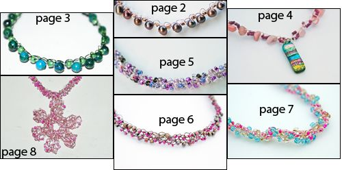 Wire Crochet Necklaces -- Free Crochet Patterns and Instructions