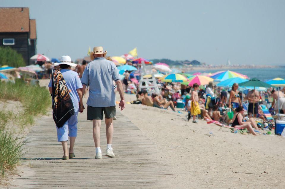 Hammonasset Beach Boardwalk Picture