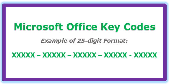 Image of 25-Digit Microsoft Office Key Codes