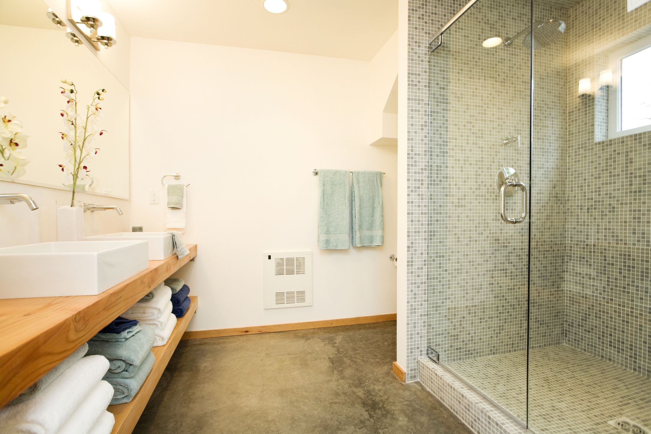 A look at the use of concrete floors in bathrooms dailygadgetfo Choice Image