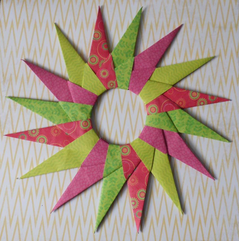 how to make a modular 16 point origami star