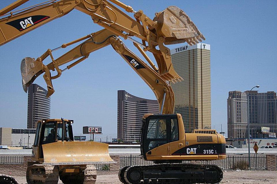 Play with a bulldozer or excavator in an adult sandbox at Dig This Las Vegas.