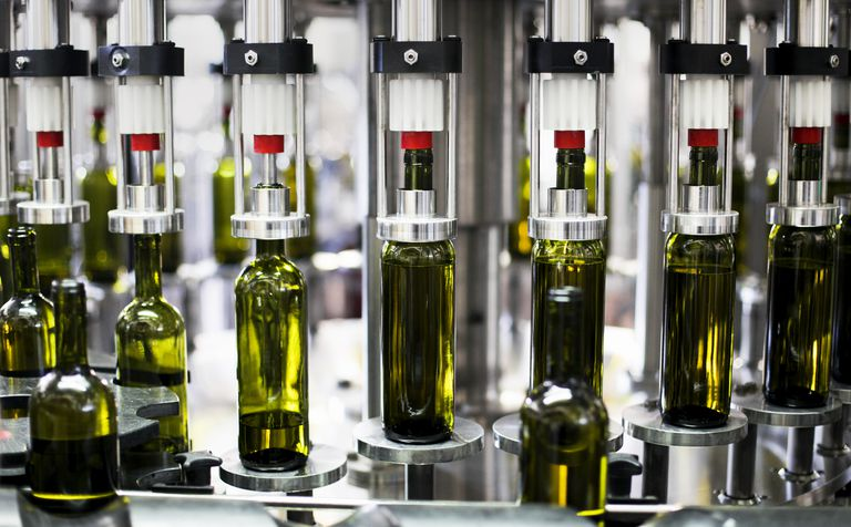 Wine Bottling Plant in a wine factory