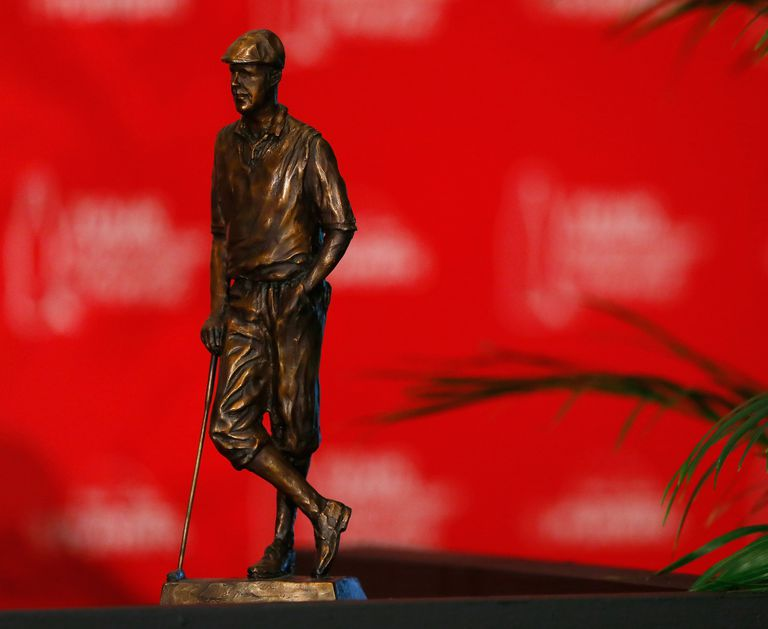 The trophy presented to winners of the Payne Stewart Award
