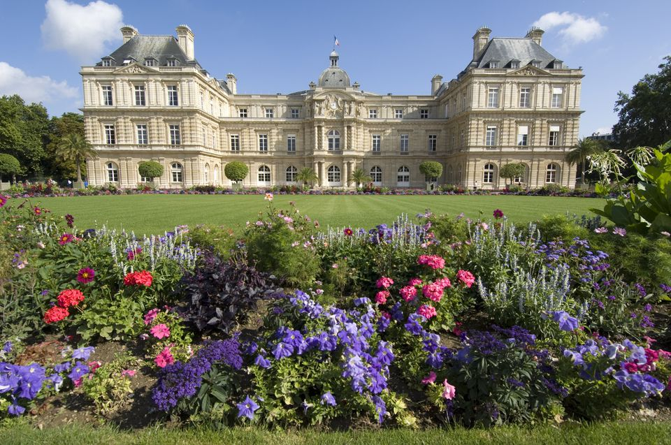 Senate palace in the Luxembourg gardens. Paris, France.