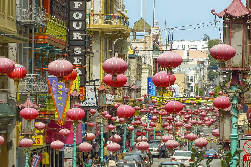 Grant Avenue in San Francisco Chinatown