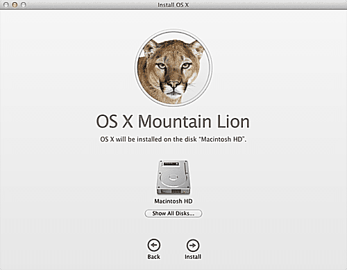 Clean Install of OS X Mountain Lion on a Non-Startup Drive