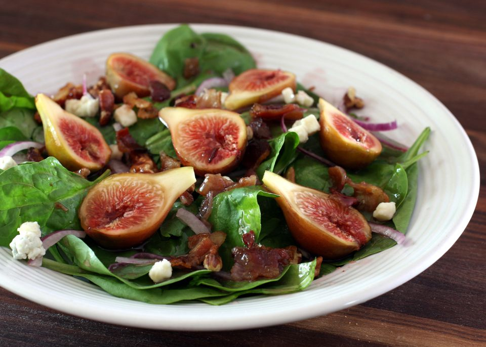 Spinach Salad With Fresh Figs