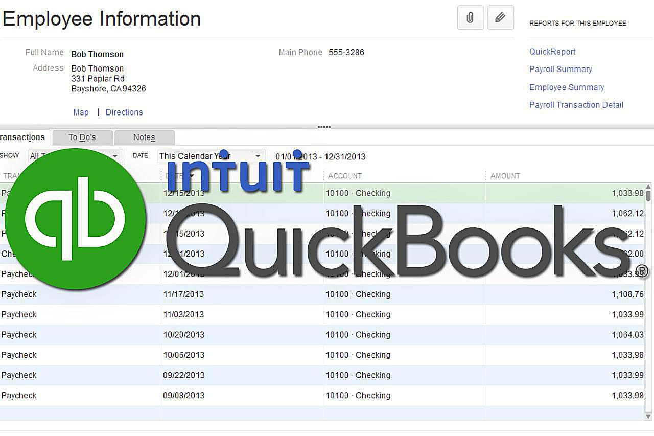 QuickBooks Report - Accountant and Tax Reports