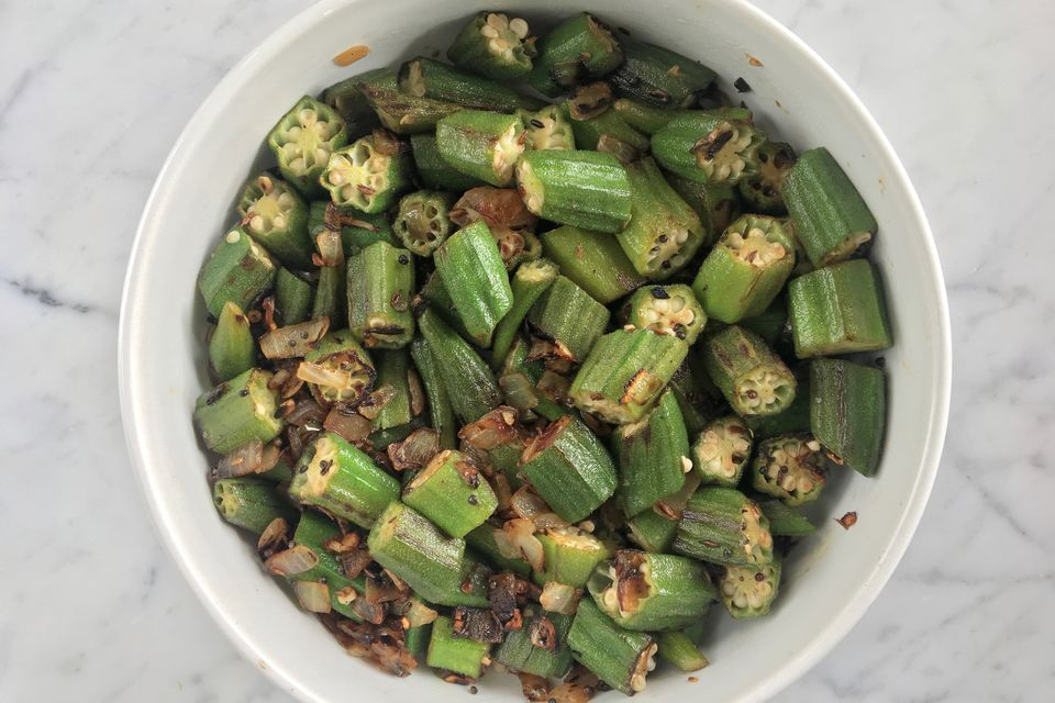 Okra with Chiles and Cumin