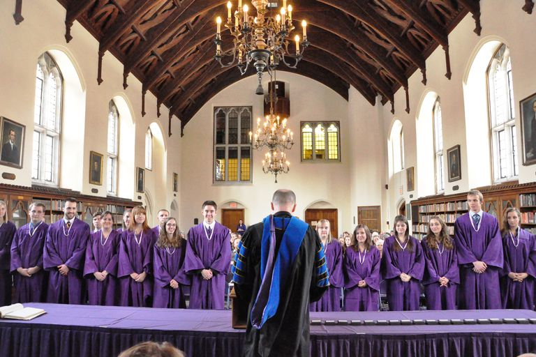 Phi Beta Kappa Induction Ceremony at Elmira College