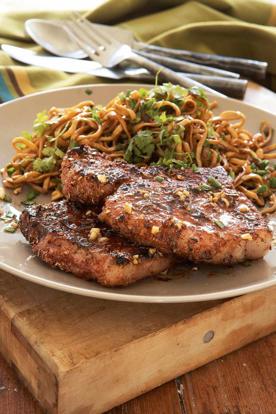 Grilled Pork Chops with Indian Spice Rub