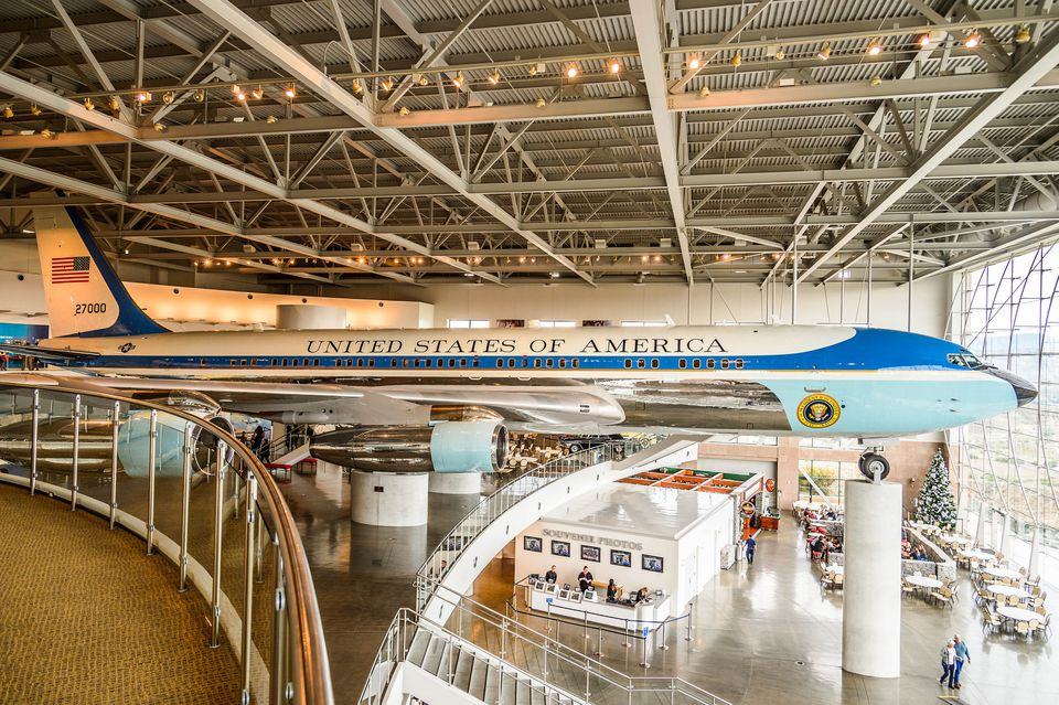 Air Force One at the Reagan Library
