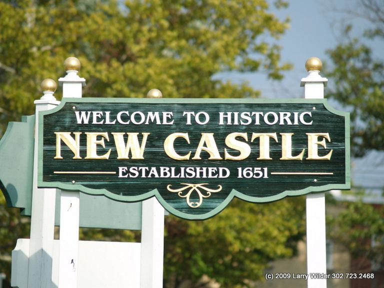 Sign for New Castle, Delaware