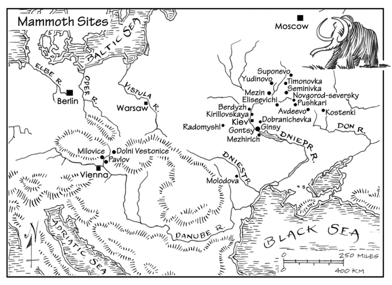 Mammoth Bone Dwelling Sites