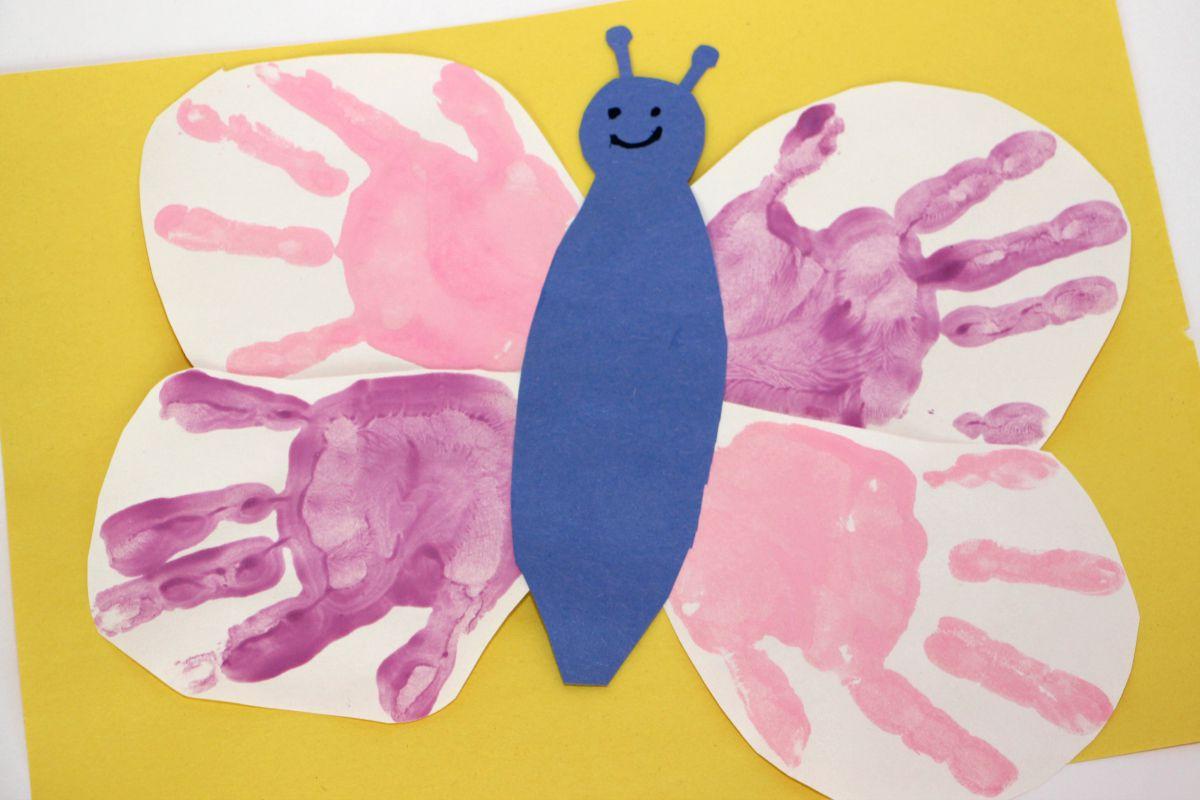 diy handprint butterfly craft for kids