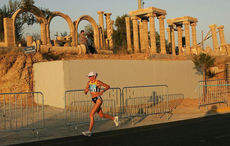 Runner in the Athens Marathon