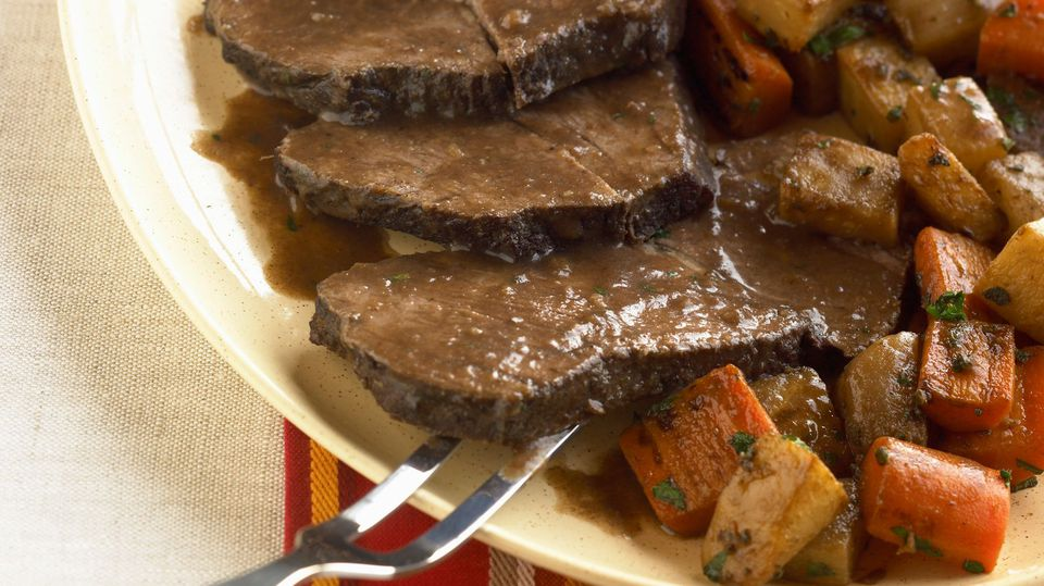 Creamy Slow Cooker Sour Cream Pot Roast Recipe