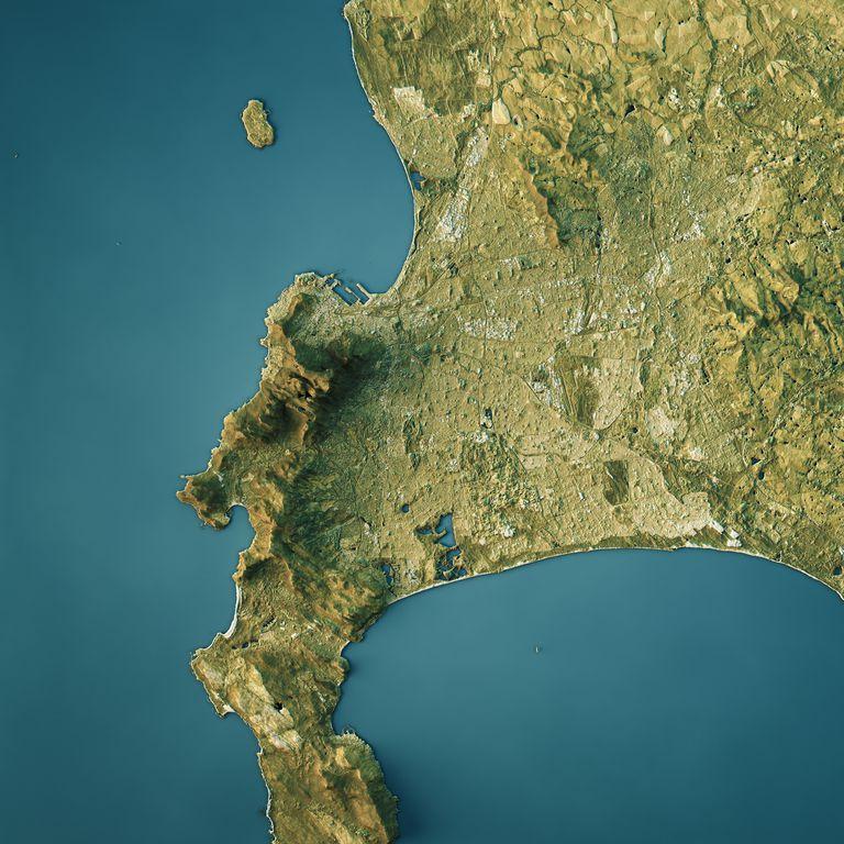 Topographic map