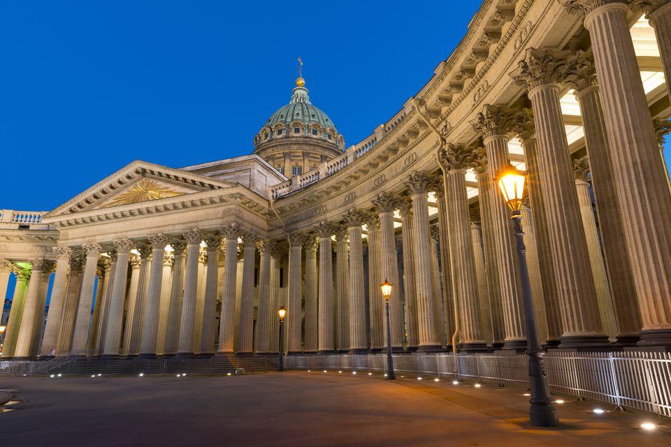 Kazan Cathedral, St. Petersburg, Russia, Europe