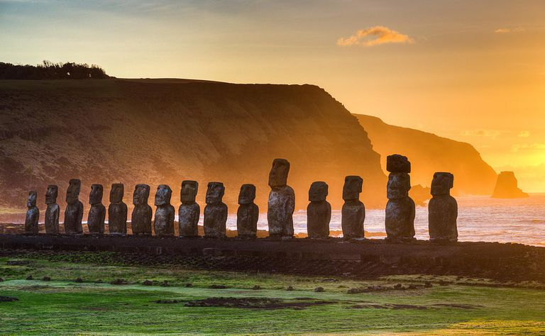 Sunrise on Easter Island